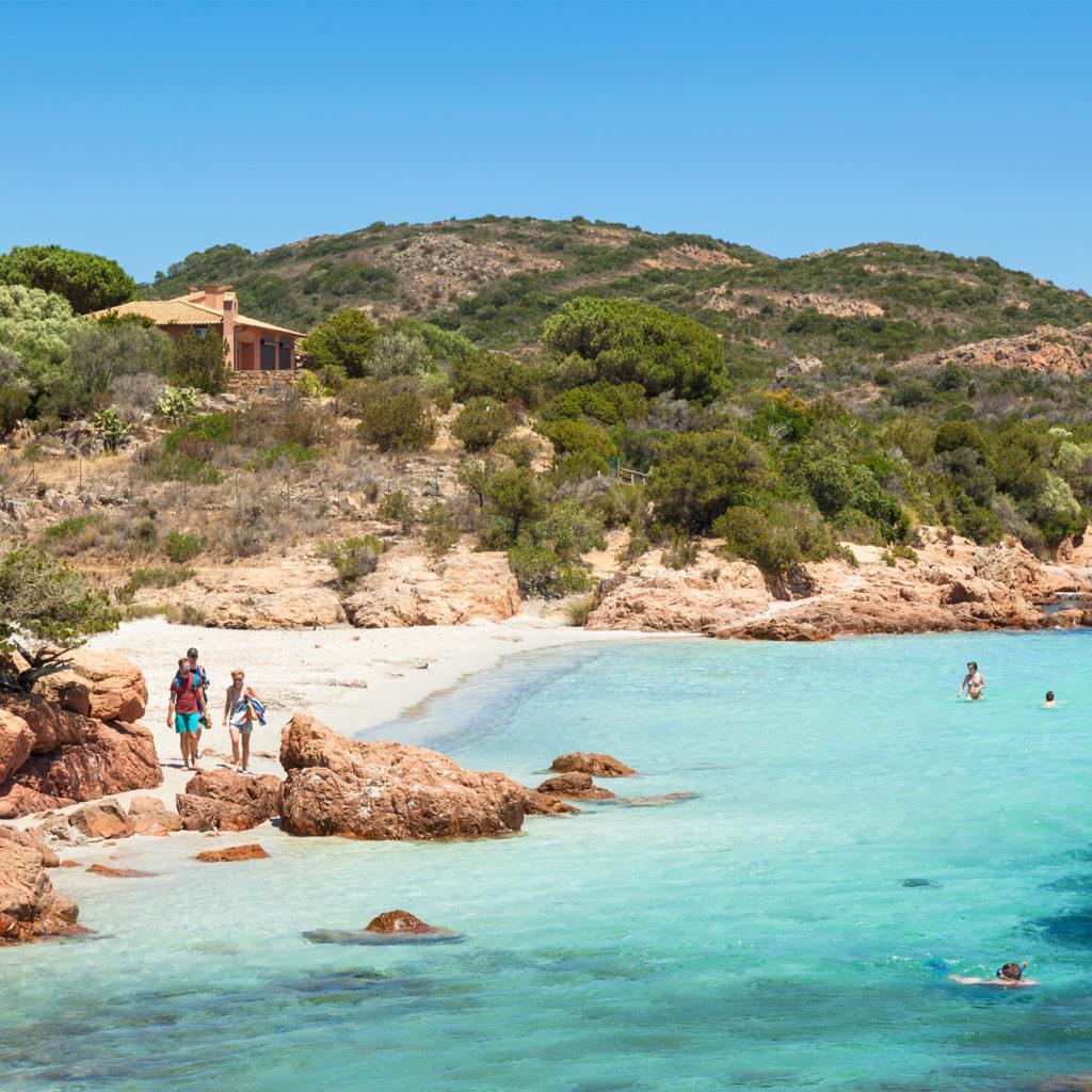 Rondinara beach in Corsica Island in France;