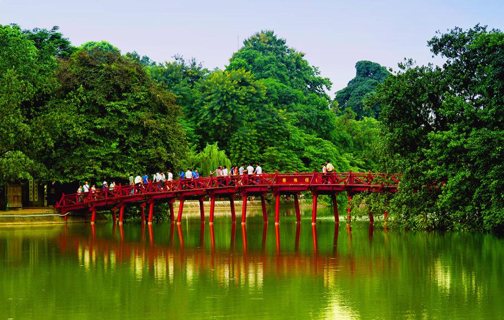 Red Bridge in Hoan Kiem Lake Pic: Shutterstock