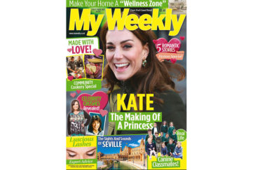 Cover of My Weekly latest issue with Kate, Duchess of Cambridge and Valentine/ community cookery