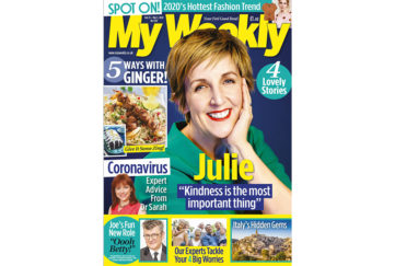 cover of My Weekly issue dated february 25 with Julie Hesmondhalgh and ginger recipes