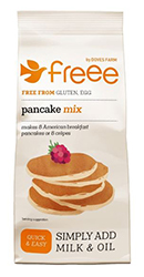 Packet of Doves Farm Freee pancake mix