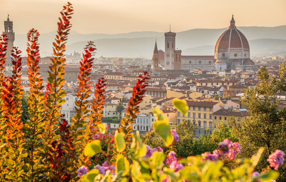 Aerial view of Florence with the Basilica Santa Maria del Fiore (Duomo), Tuscany, Italy Pic: Shutterstock