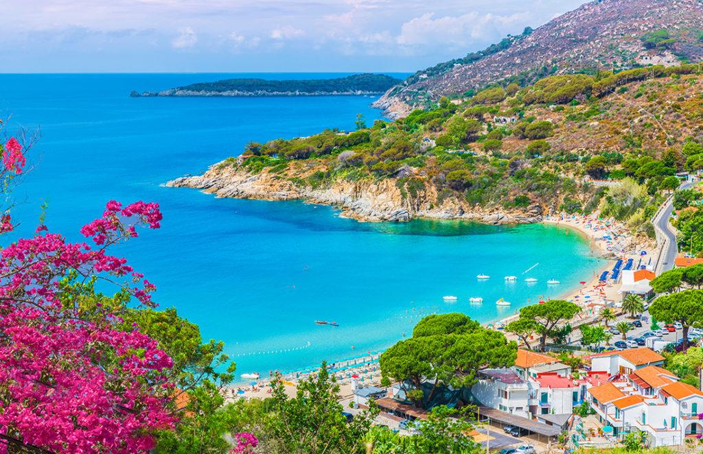 View of Cavoli beach, Elba island, Tuscany, Italy. ; Shutterstock