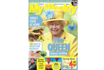 Cover of My Weekly latest issue April 4 with The Queen and street food recipes
