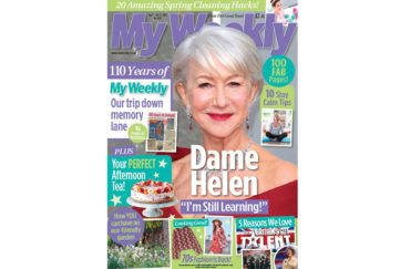 Cver of My Weekly bumper issue April 7, with Dame Helen Mirren, afternoon tea recipes and nostalgia pull out