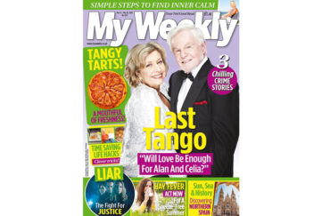 Cover of My Weekly latest issue March 10, 2020, with Anne Reid and Derek Jacobi and tangy tarts recipe