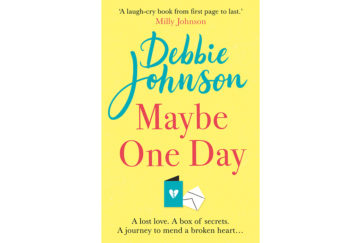 Cover of Maybe One Day with small image of greetings card with a broken heart,