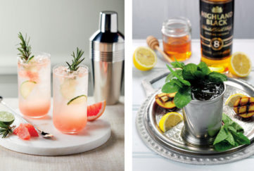 Two Aldi cocktails