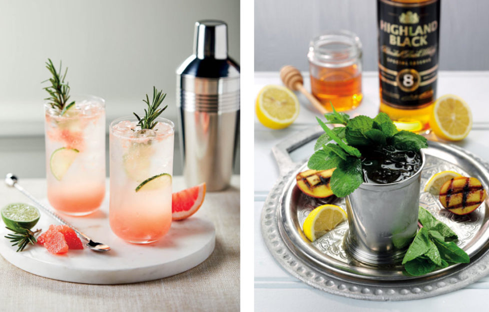 Two Aldi cocktails