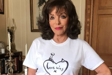 Joan Collins - Love Wins T-shirt