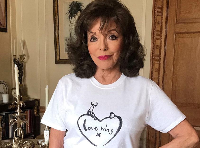 Joan Collins - Love Wins T-shirt