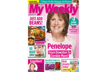 Cover of My Weekly latest issue April 21, with Penelope Wilton and storecupboard cookery