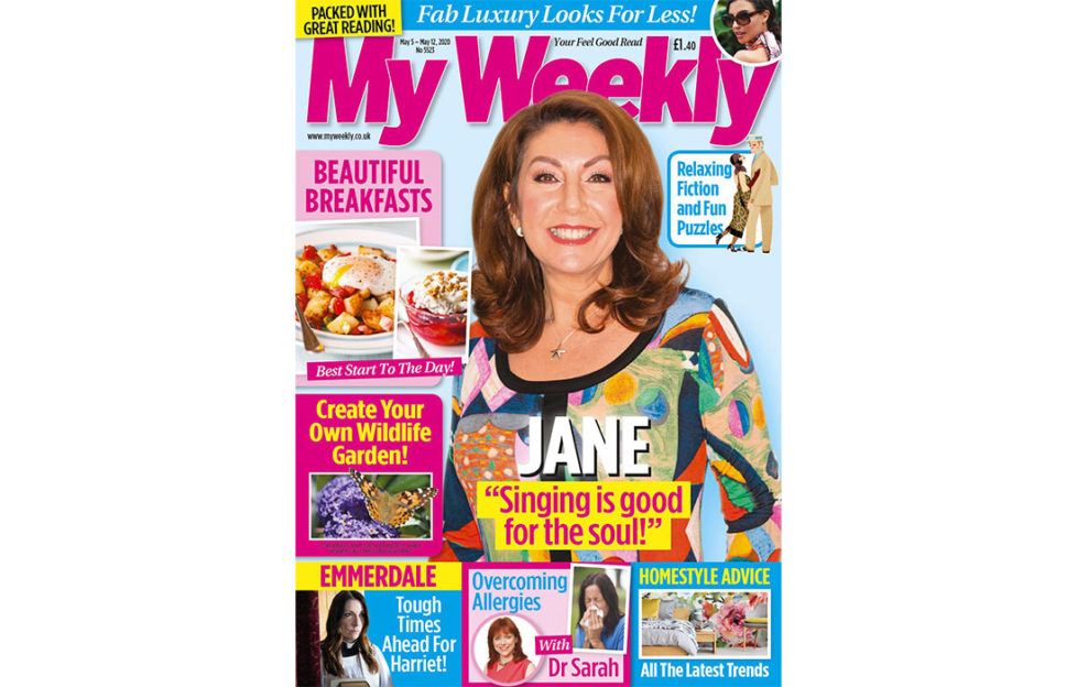 Cover of My Weekly latest issue May 5 with Jane McDonald and breakfast cookery