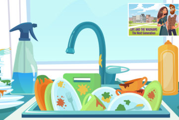 Dishes in the sink Illustration: Shutterstock