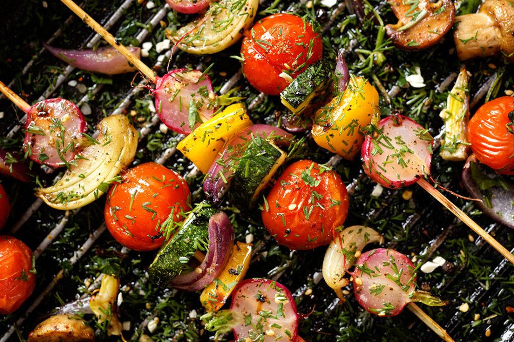 Grilled veggie skewers Pic: Shutterstock