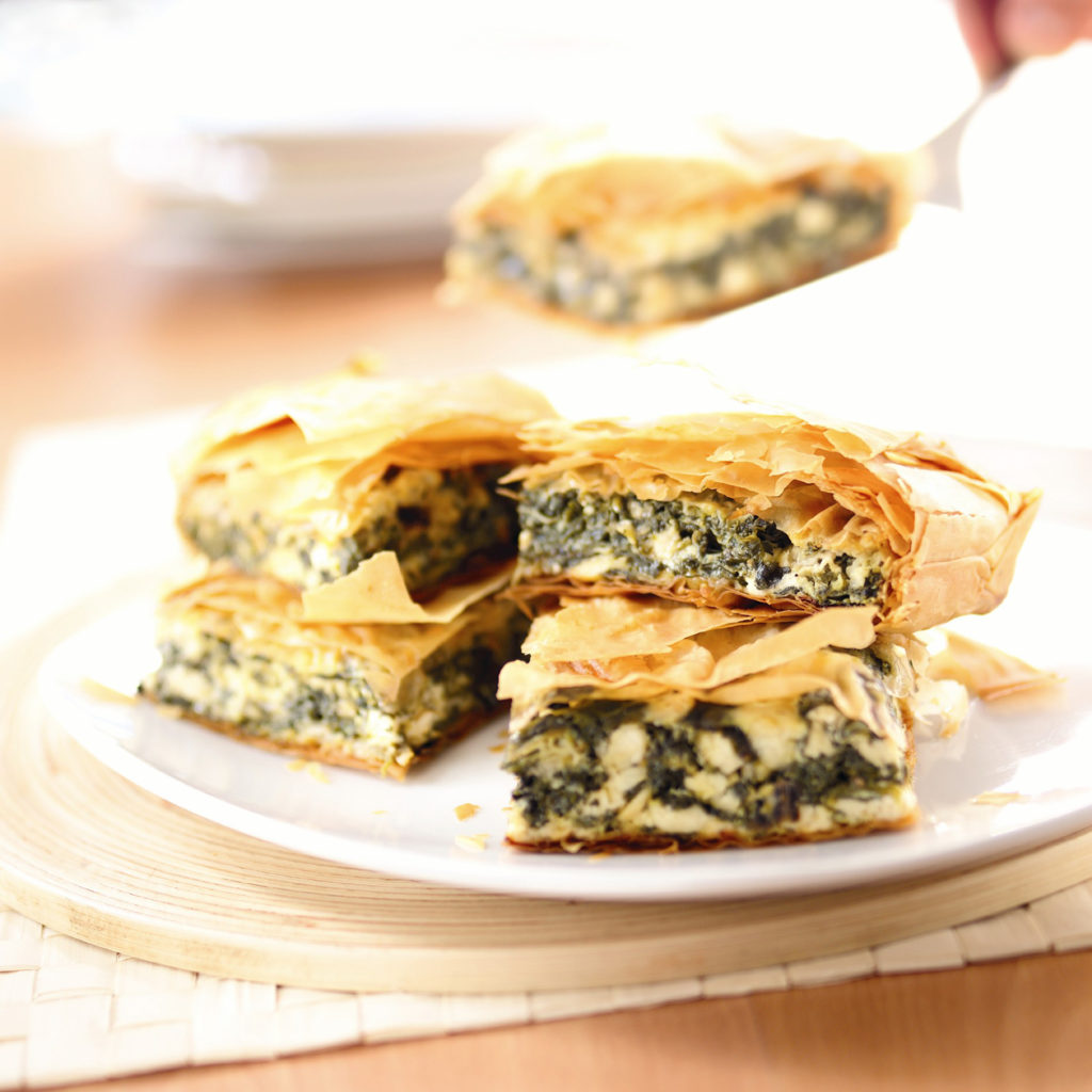 Greek filo with spinach pie