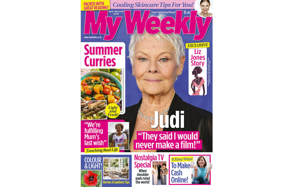 Cover of My Weekly latest issue May 19 with Judi Dench and summer curry recipes