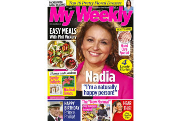 Cover of My Weekly latest issue June 9 with Nadia Sawalha and PhilVickery easy meals