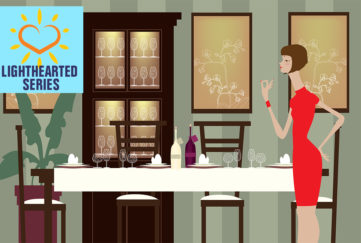 Lady at a dining room table Illustration: Shutterstock