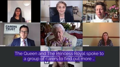 The Queen on Zoom