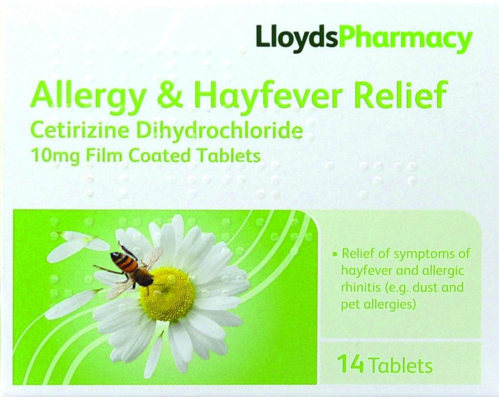 Lloyds Allergy Cetrizine tablets