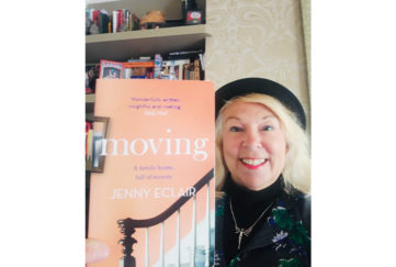 Vicky with cover of Moving