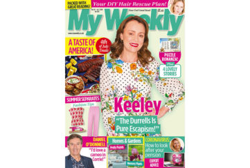 Cover of My Weekly latest issue Jue 30 with Keeley Hawes and 4th of July American cookery