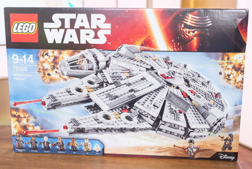 Lego Star Wars Millennium Falcon spaceship kit in original box