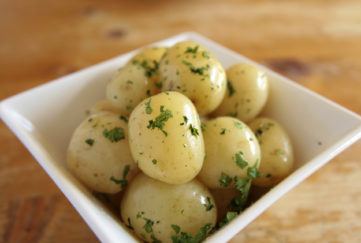 New potatoes cooked.;