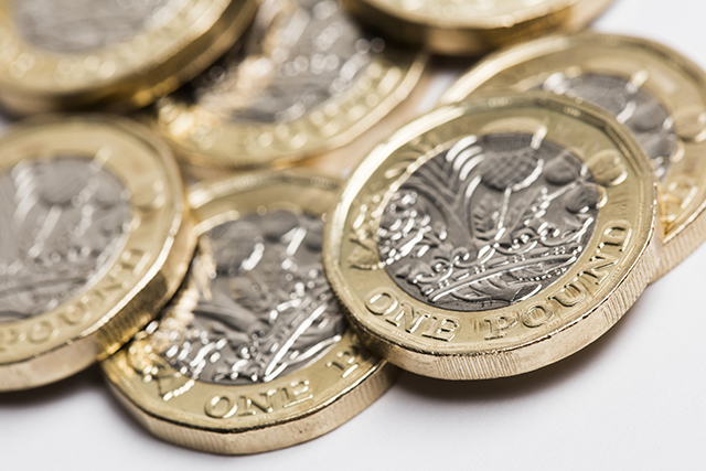 Pound coins Pic: Shutterstock