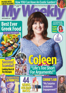 Cover of My Weekly July 21 with Coleen Nolan and Greek food