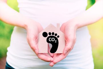 Carbon footprint. Sustainability concept. Global environmental responsibility.