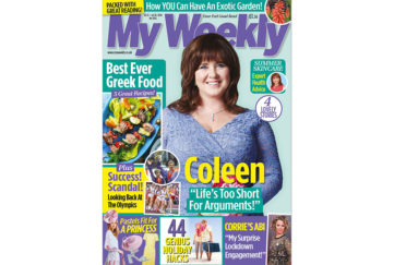 cover of My Weekly latest issue with Coleen Nolan and Greek cookery
