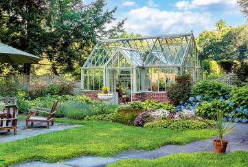 Victorian style greenhouse as in story
