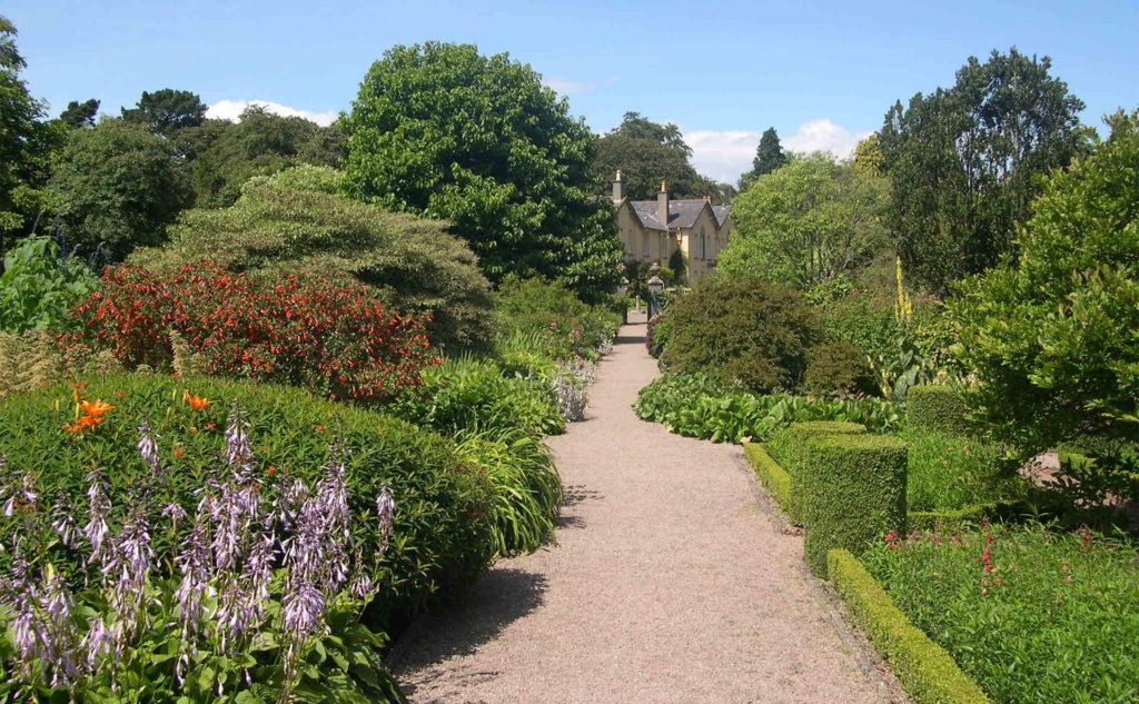 Gravel path with beautiful borders