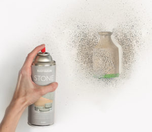 Applying stone paint