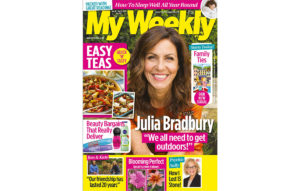 Cover of My Weekly latest issue with Julia Bradbury and easy dinner recipes