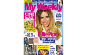 Cover of My Weekly latest issue September 1 with Billie Piper and super salads