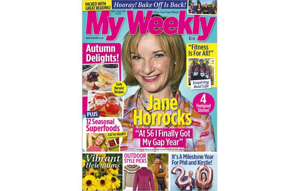 Cover of My Weekly latest issue September 15 with Jane Horrocks and Autumn Delights cookery