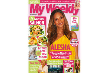 Cover of My Weekly latest issue with Alesha Dixon and salmon cookery