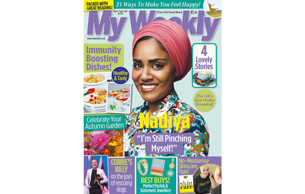 Cover of My Weekly latest issue with Nadiya Hussein and immunity boosting cookery