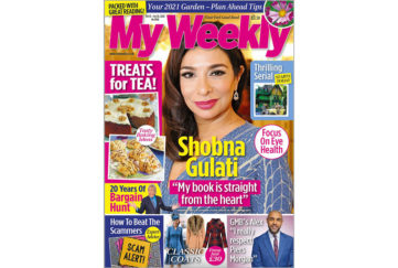 Cover of My Weekly latest issue with Shobna Gulati and baking for pleasure