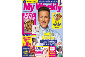Cover of my weekly latest issue with Anton du Beke and Nadiya Hussain recipes