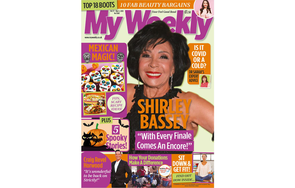 Cover of My weekly latest issue with Shirley Bassey and Mexican magic cookery