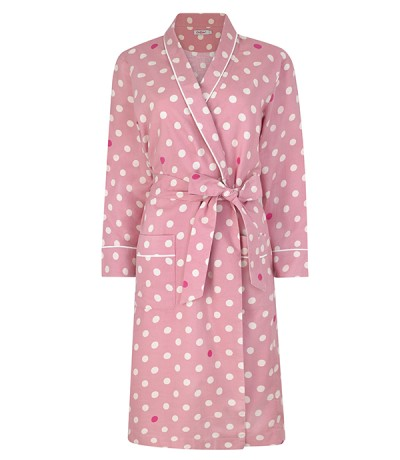 Dressing gown pink spots