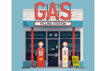 Gas Filling Station Illustration: Shutterstock