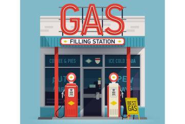 Gas Filling Station Illustration: Shutterstock