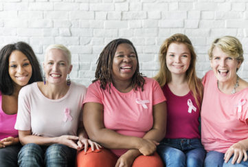 Women Breast Cancer Support Charity Concept;