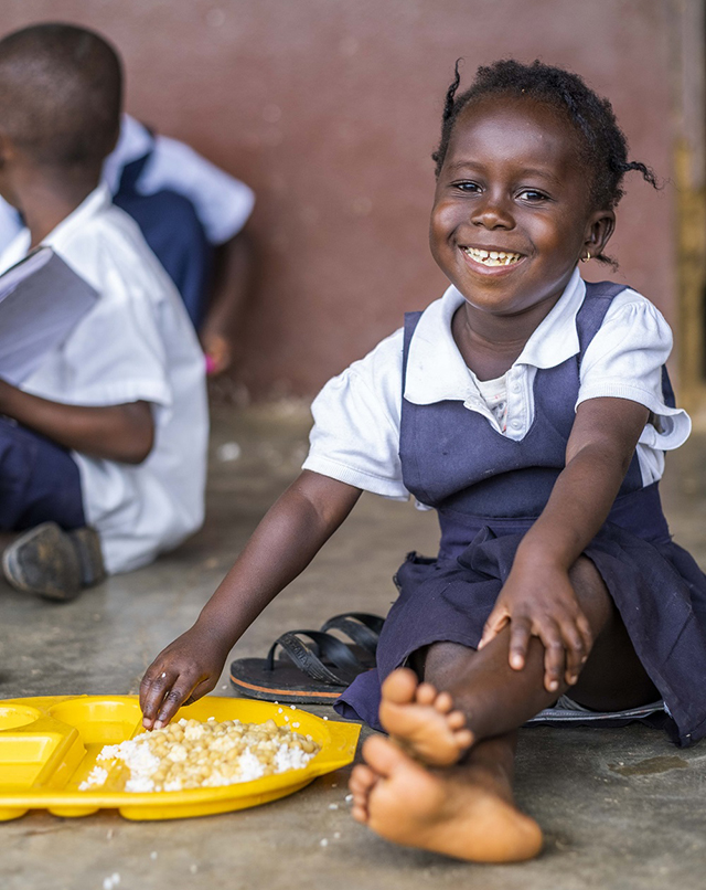 The appeal is reaching the hungry children of Liberia Pic: Chris Watt
