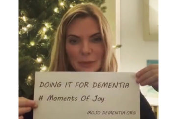 Sam Womack delivers her message for the Moments of Joy dementia campaign